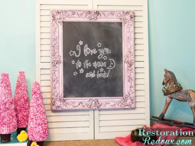Chalky Finish Chalkboard