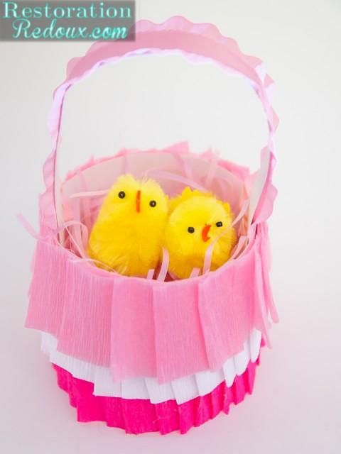 Crepe Paper Easter  Basket