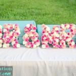 Flower Filled 3-D Letters