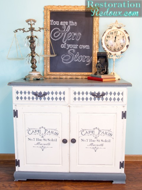 Grey-Ivory-Stenciled-Cabinet