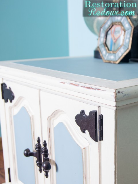 Blue and Ivory Side Table