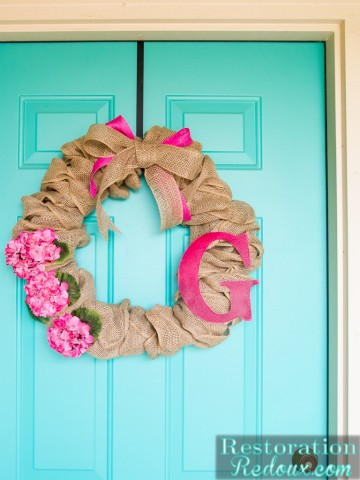Easy Summer Burlap Wreath