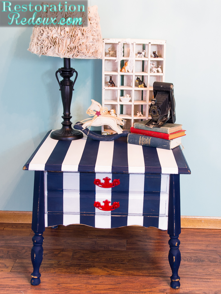 Nautical Striped Table