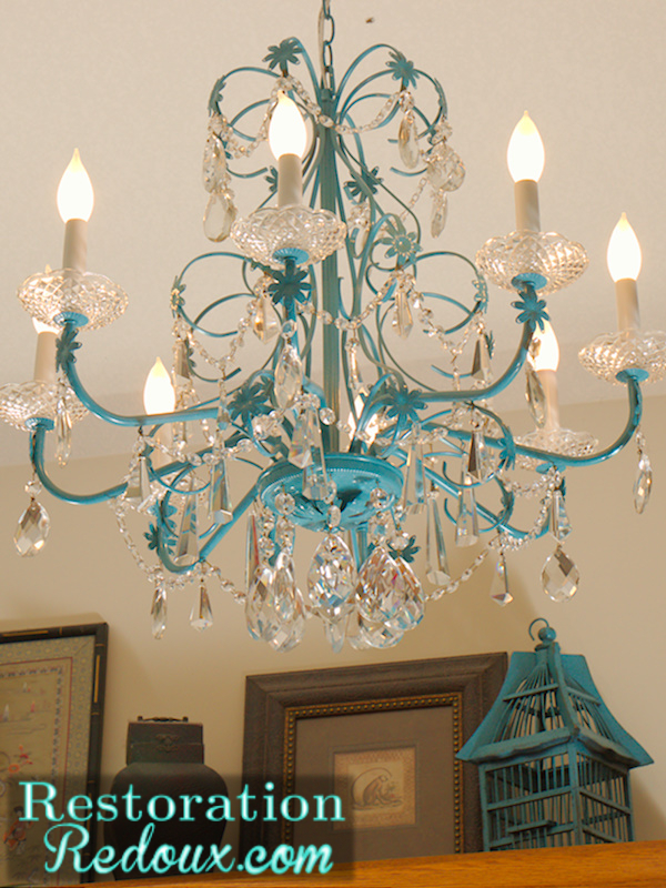 25 Shades of Blue Restoration Redoux – Chandelier Makeover Ideas