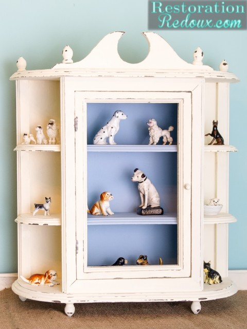 Ivory Plaster Painted Cabinet