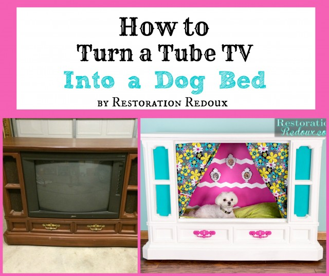 How to Turn a Tube TV Into a Dog Bed