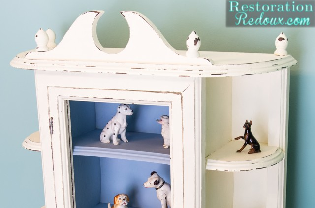 Plaster Painted Ivory Cabinet