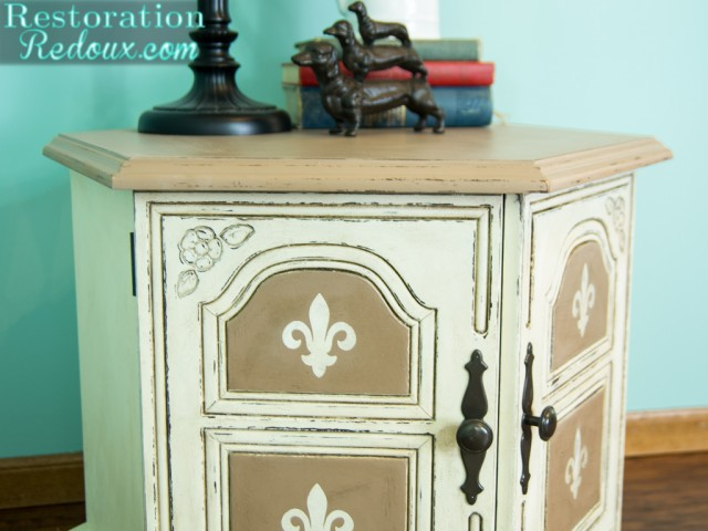 Plaster Painted Neutral End Table