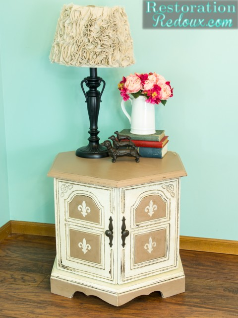 Plaster Painted Neutral Endtable