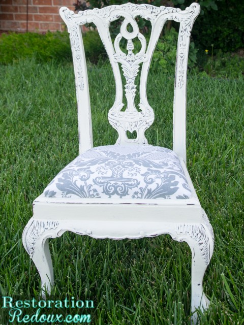 Plaster Painted Vintage Childs Chair