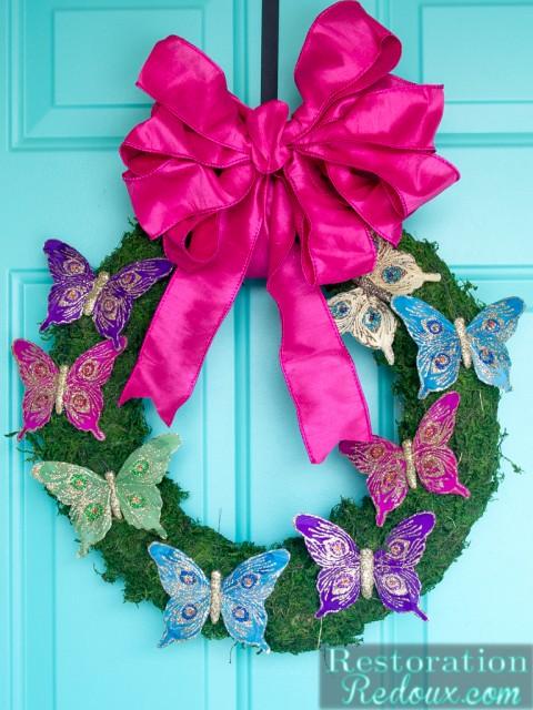 Butterfly-Moss-Wreath