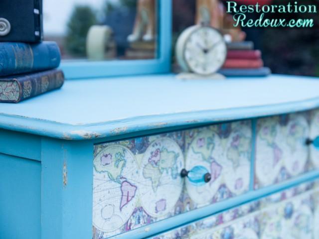 Childs-Decoupaged-Dresser