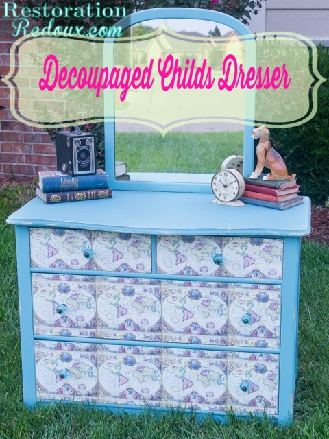 Decoupaged-Childs-Dresser