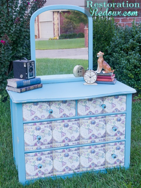 Decoupaged-Vintage-Dresser