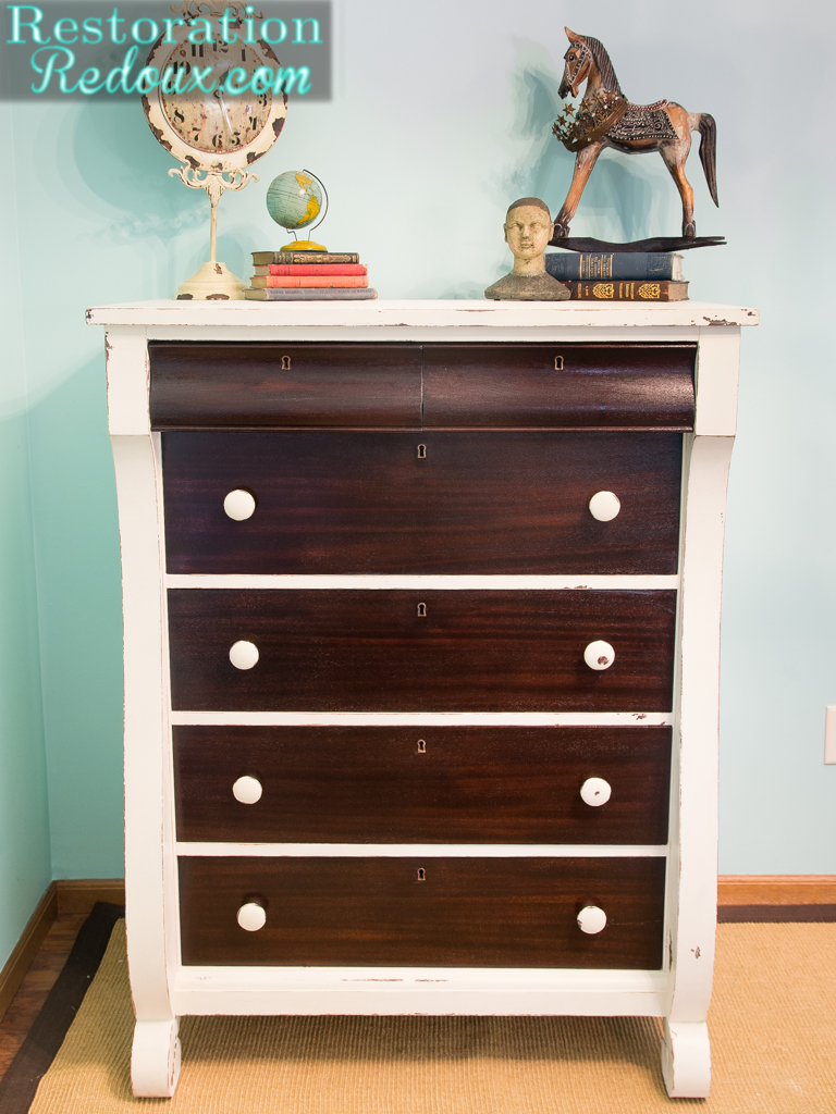 Charmant Ivory Two Toned Dresser