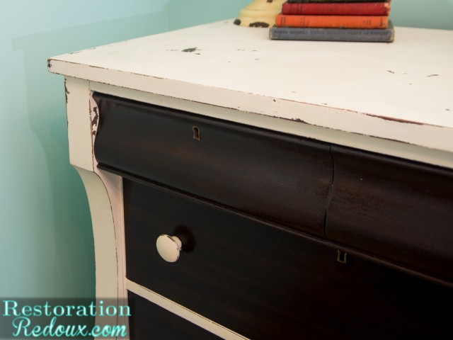 Ivory Two Toned Dresser