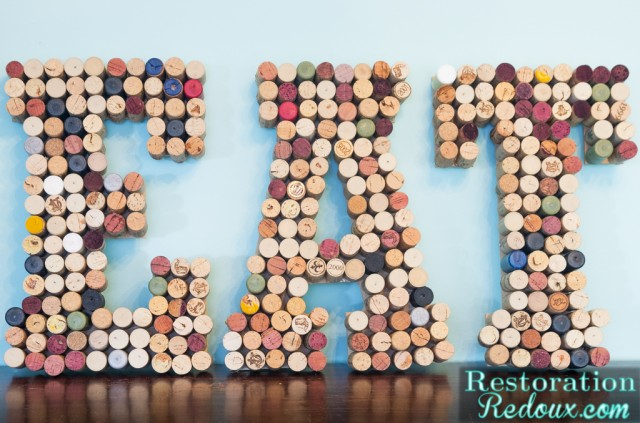 Wine Cork Wall Art Letters