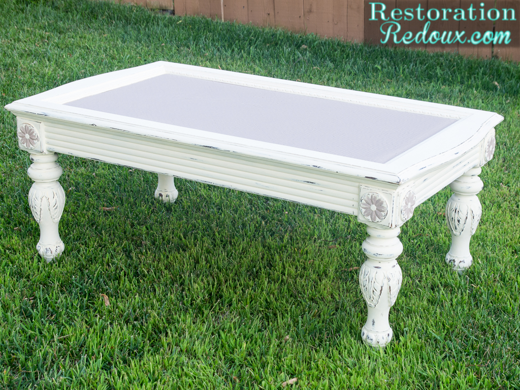 chalky finish coffee table - restoration redoux