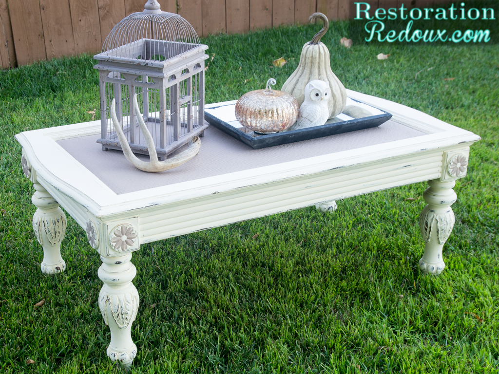 Chalky Finish Coffee Table Restoration Redoux
