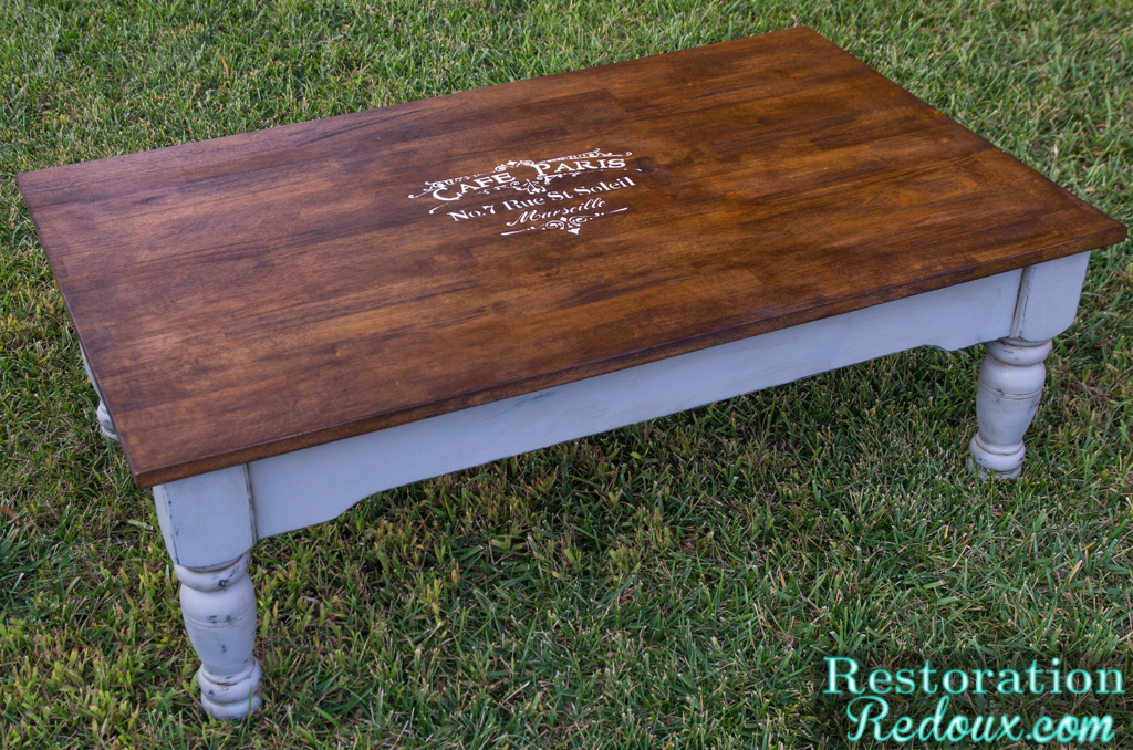Two Toned Coffee Table - French Two Toned Coffee Table - Restoration Redoux