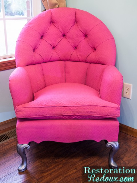 Pink Plaster Painted Chair