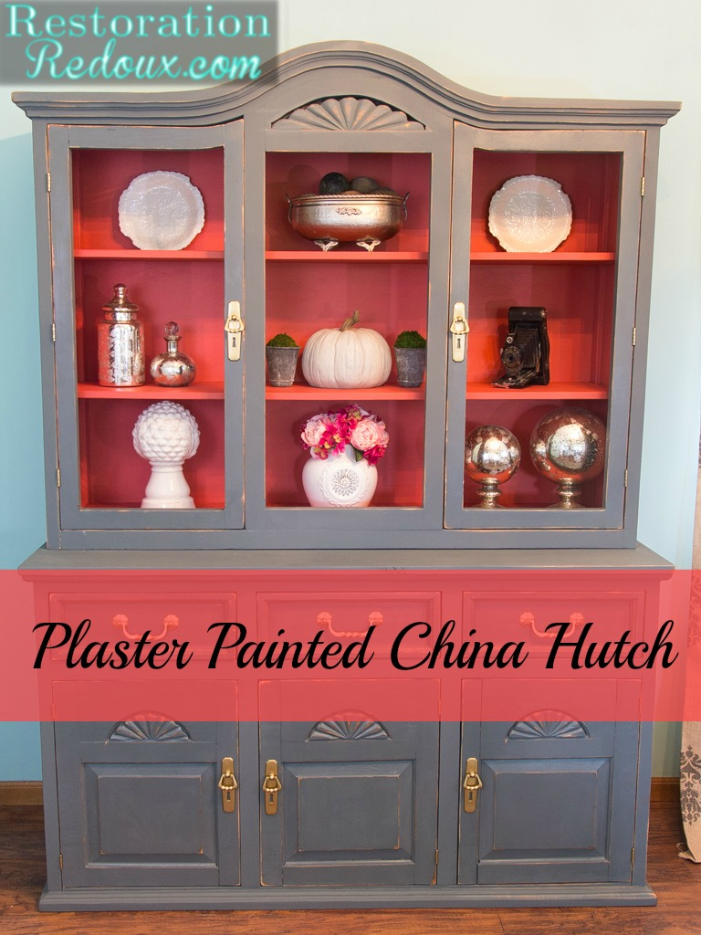 Plaster-Painted-China-Hutch