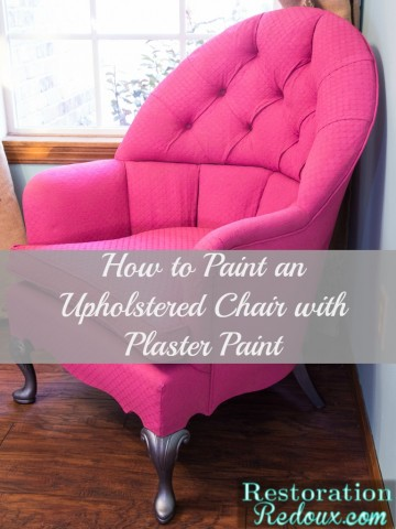 Pink Plaster Painted Vintage Chair