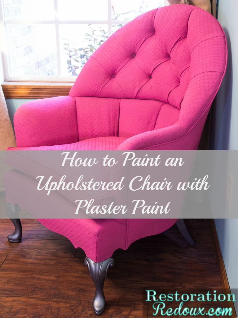 Pink Plaster Painted Vintage Chair