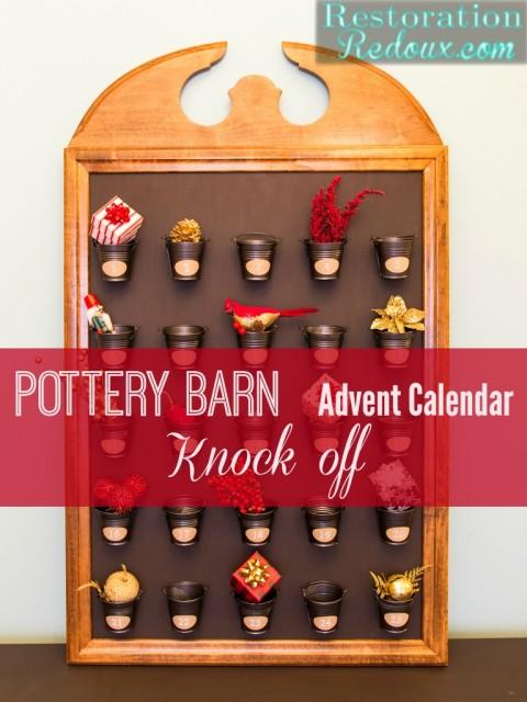 Pottery Barn Advent Calendar Knock off by Restoration Redoux