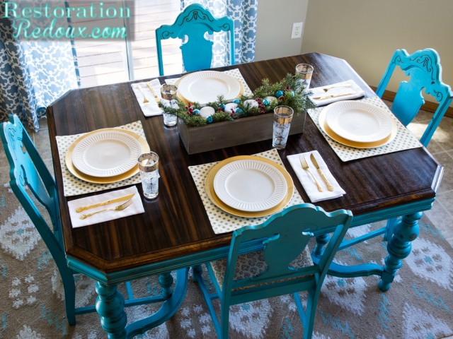 Restoration Redoux's Turquoise Dining Table