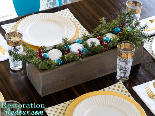 RestorationRedoux Christmas Centerpiece