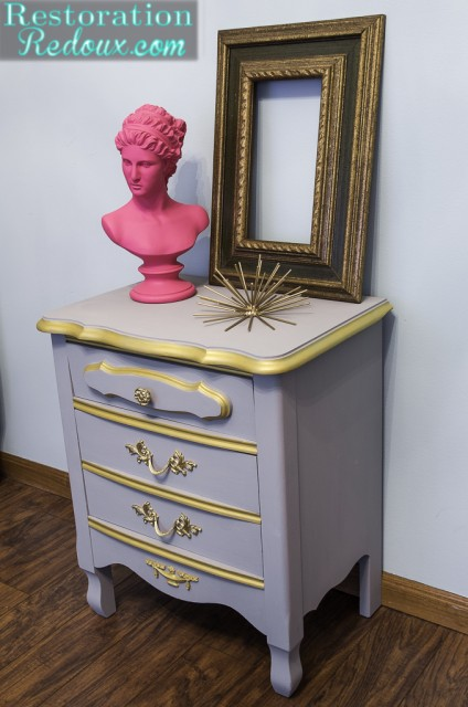Plaster Painted French Provincial Nightstand
