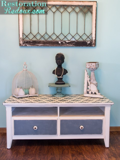 Plaster Painted TV Console