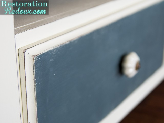 Stenciled TV Console Makeover