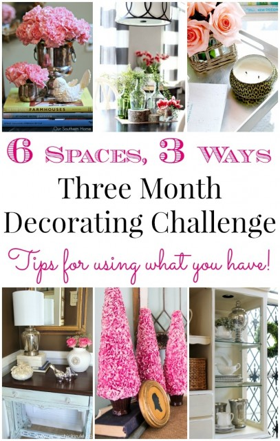Three Month Decorating Challenge Collage