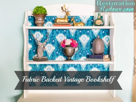Fabric Backed Vintage Shelf