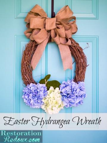 Best of DIY- Hydrangea Easter Wreath