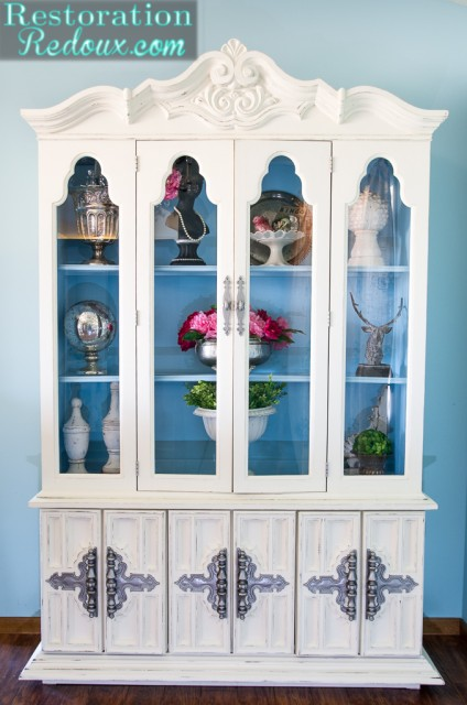 Ivory-Painted-China-Hutch