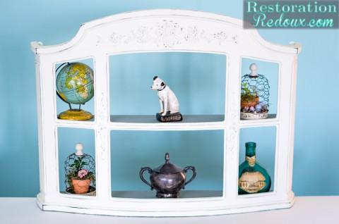 Ivory Plaster Painted Shelf