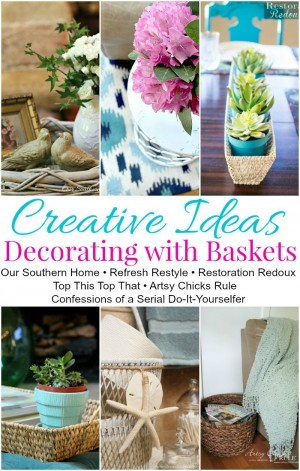 Decorating with Baskets PIN COLLAGE