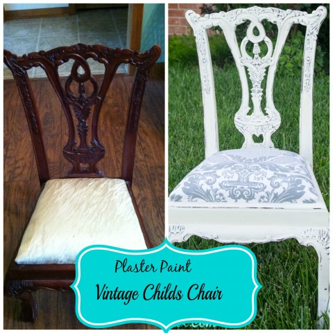 Plaster Painted Child's Chair