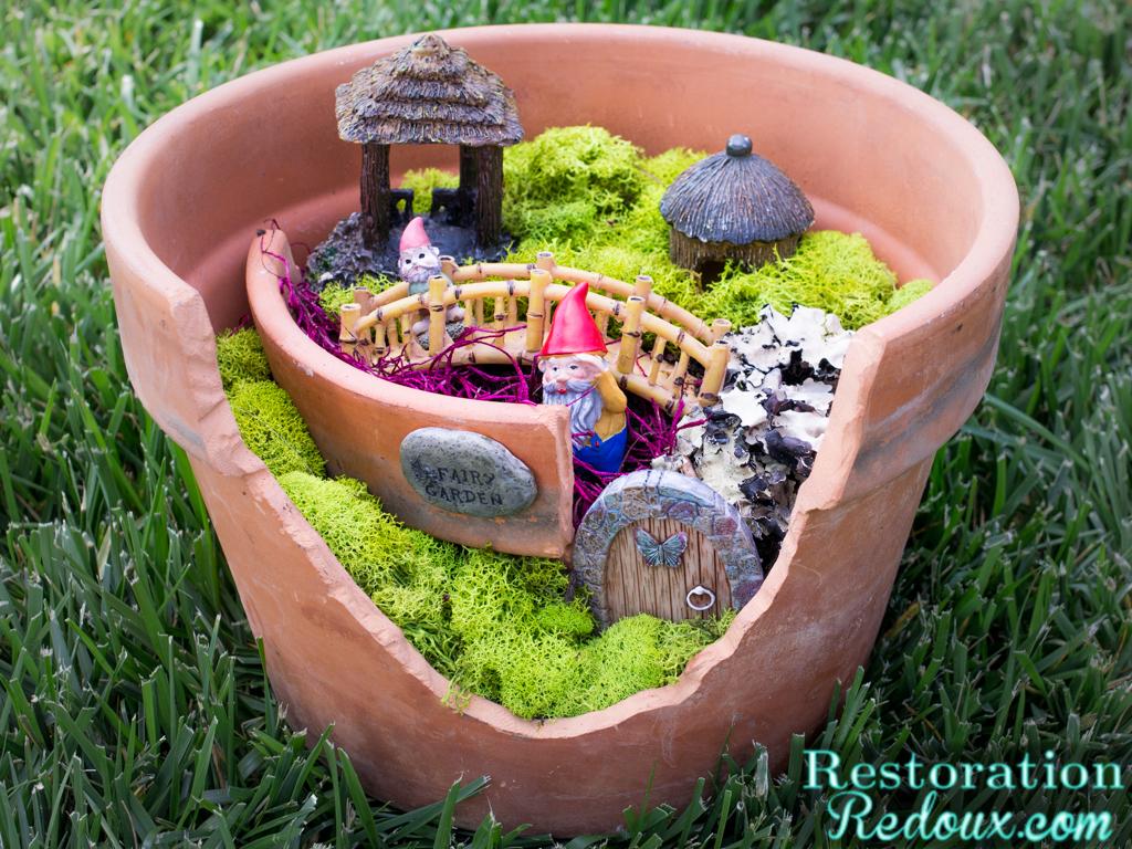 Flower Pot Fairy Garden. Flower Pot Fairy Garden   Restoration Redoux