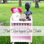 Pink Harlequin End Table