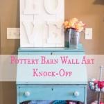 Pottery Barn Wall Art Knockoff