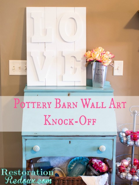 Pottery Barn Wall Art Knockoff