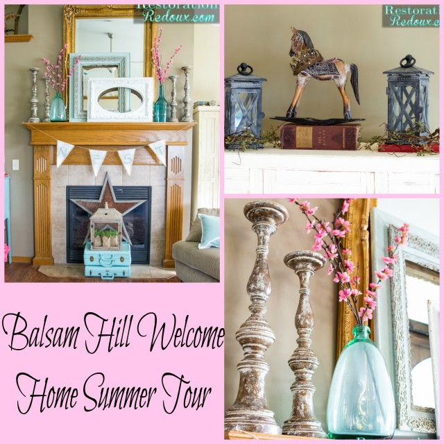 Balsam Hill Welcome Home Summer Tour Mantel