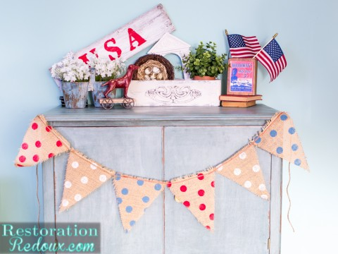 Easy Patriotic Vignette