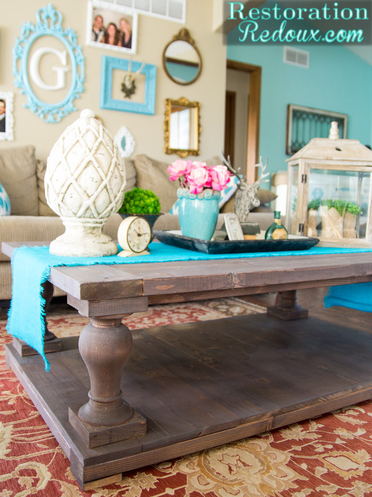 I built my first coffee table and i still have all my fingers diy restoration hardware coffee table geotapseo Images