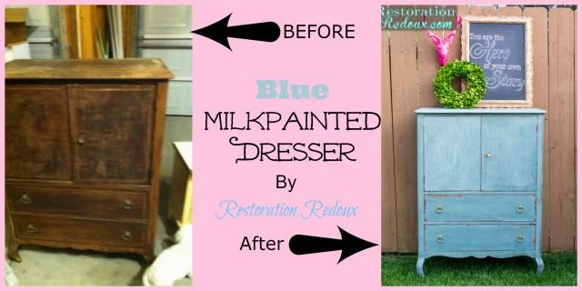 Blue Milkpainted Dresser