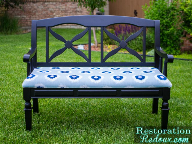 Reupholstered Bench Tutorial